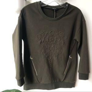 Aritzia babaton olive green sweater size Xxs